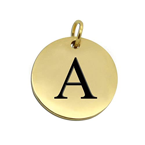 tumundo 1 Colgante Letra Alfabeto Colgante Collar Nombre Oro ...