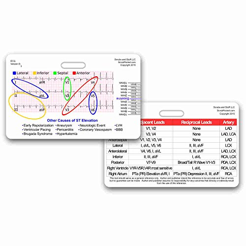 STEMI 12 Lead Tool Horizontal Reference Badge ID Card (1 Card) ()