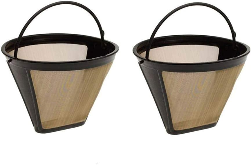 ? Yu2d ❤?❤? ?Reusable Cone Coffee Filter Permanent Washable Coffee Filter Machines and Brewer