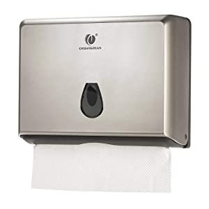 CHUANGDIAN Wall-Mounted Hand Paper Towel Dispenser for Bathroom, Office&Kitchen (Gold) …