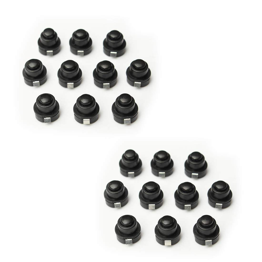 Cyful 20 Pcs Round Latching Flashlight Torch Push Button Switch 125V AC 1A