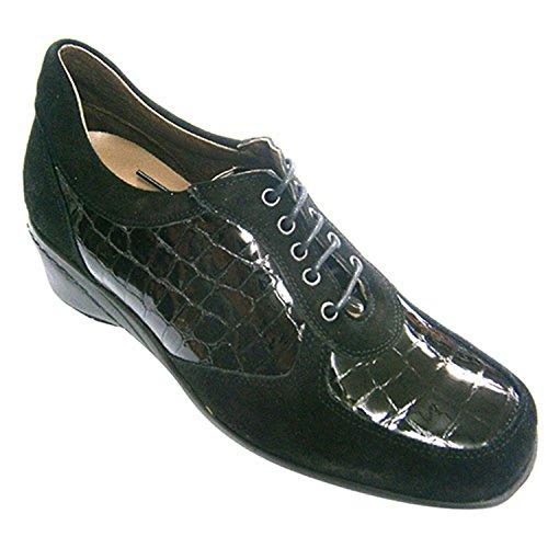 Daim de chaussures et cuir verni femmes confondus Roldán en noir