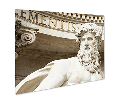 Ashley Giclee Neptune Statue of Trevi Fountain Fontana Di Trevi in Rome, Wall Art Photo Print On Metal Panel, Color, 16x20, Floating Frame, AG6142858
