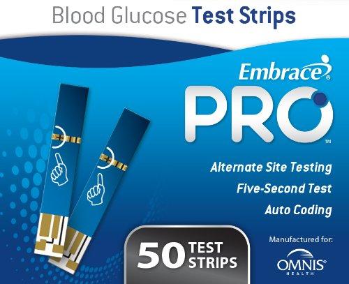 EmbracePRO Blood Glucose Test Strips, 50ct Vial (Test Strips Omnis)