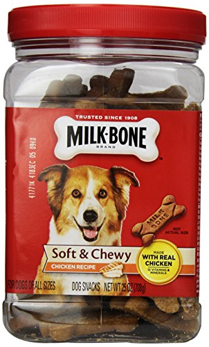 Milkbone Dog Biscuits 799044 6-Pack Chewy Treats Chicken Drumstix For Pets, 25-Ounce Review