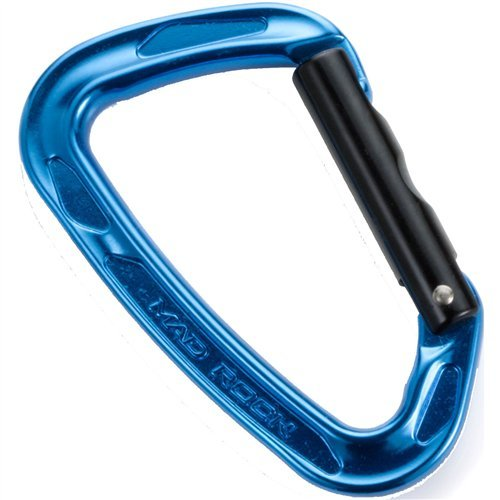 Straight Rock - Mad Rock Super Tech Straight Carabiner (Blue)