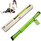 Muscle Massage Roller Stick - 21 Inch Self Massager - Body Massage Tools for Relief Muscle Soreness,Cramping and Tightness,Perfect for Athletes, Trainers, Physical Therapy, Yoga
