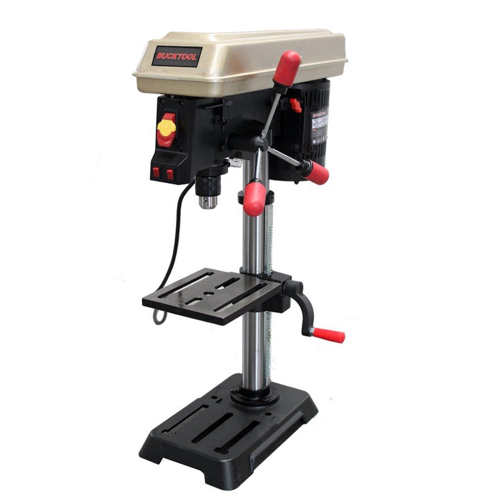BUCKTOOL Drill Press 10 inch 5 Speed Laser Track Guided Bench Drill Press