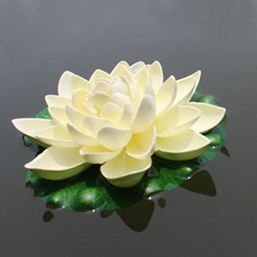 Amazon emmix floating flower foam lotus artificial water lily amazon emmix floating flower foam lotus artificial water lily white for home and party decoration and holiday celebration 7 inches set of 4 home izmirmasajfo