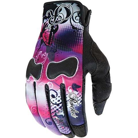 Joe Rocket Nation Womens Pink/Purple Textile Motorcycle Gloves - X-Large - Textile Motorcycle Gloves