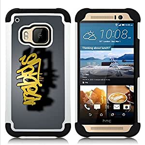 For HTC ONE M9 - graffiti Dual Layer caso de Shell HUELGA Impacto pata de cabra con im??genes gr??ficas Steam - Funny Shop -