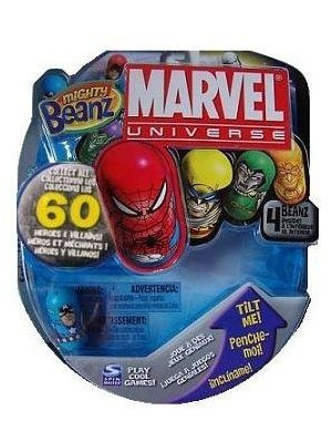 Mighty Beanz 2010 Marvel Starter Pack Set 4 Beanz