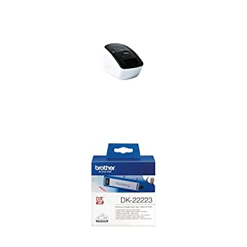 Brother QL700 - Impresora de etiquetas + Brother DK22223 - Cinta continua de papel térmico: Amazon.es: Oficina y papelería