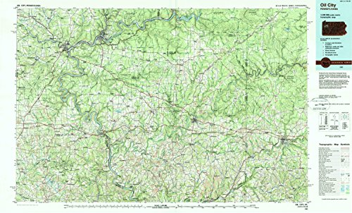 Oil City PA topo map, 1:100000 scale, 30 X 60 Minute, Historical, 1983, updated 1984, 24.1 x 40 IN - ()