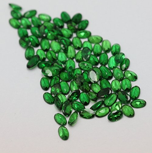 4x5mm Natural Tsavorite ( Green Garnet ) Calibrated Size Cut Oval Top Quality AAA Green Color Loose Gemstone 100 Pieces Lot