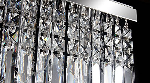 Siljoy Rectangular Raindrop Crystal Chandelier Lighting