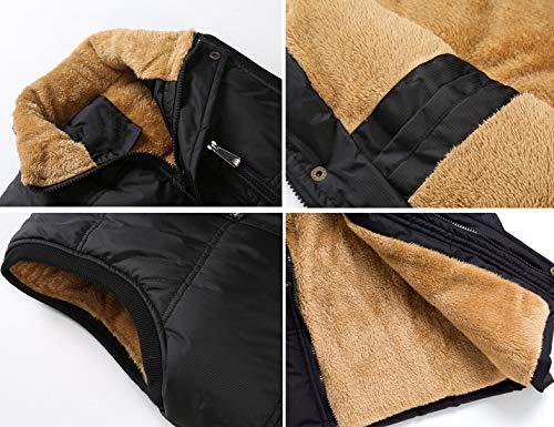 250f0ca6c81ac Flygo Men s Winter Warm Outdoor Padded Puffer Vest Thick Fleece Lined Sleeveless  Jacket