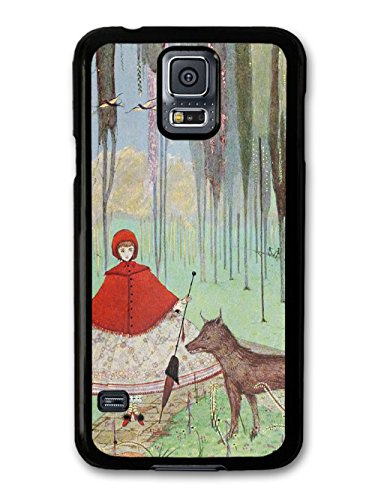 Vintage Fairy Tale Red Riding Hood Cool Illustration Style Fashion Design coque pour Samsung Galaxy S5