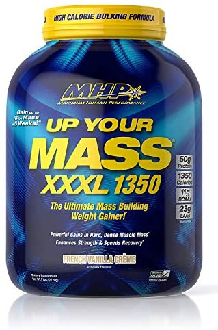 SPORTS NUTRITION SOURCE MHP Up Your Mass Xxxl 1350 Mass Build mit Kohlenhydraten, Kreatin und Glutaminplätzchen, French Vanilla, 1er Pack (1 x 2721 g)