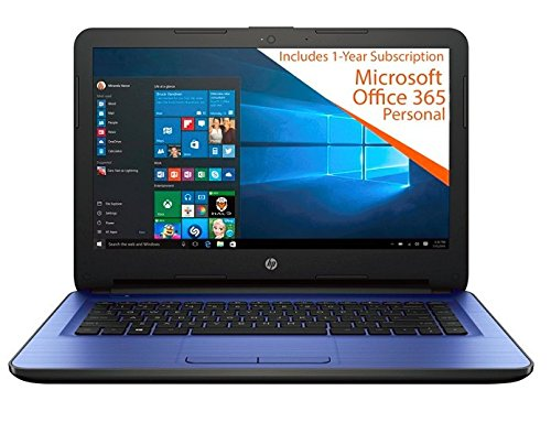 2017 Newest HP Premium Business Flagship 14'' HD Display Laptop PC with 1-Year Office Intel Celeron Dual Core-Processor 4GB RAM 32GB eMMC Hard Drive HDMI Webcam Windows 10-Blue