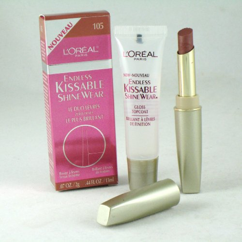 (Loreal Paris Endless Kissable Shinewear Duo Lipstick/Topcoat, #105 First Blush)