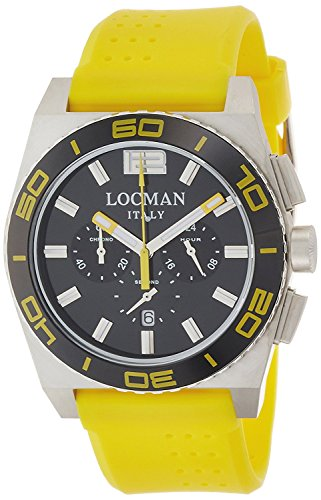 LOCMAN watch stealth Mare quartz chronograph rotating bezel Men's 0212 021200KY-BKKSIY Men's [regular imported goods]