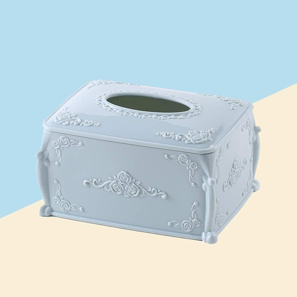 TOPBATHY Bo/îte /à mouchoirs de Style europ/éen Porte-Serviettes en Papier carr/é en Plastique Contenant de Stockage pour la Barre de Bureau /à Domicile