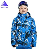 VECTOR Windproof Waterproof Kids Warm Hooded Winter Coat Snowboard Ski Jacket XL