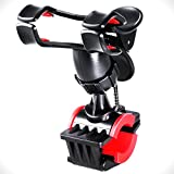 Bike Mount Holder Rymemo Universal 360 Degrees Rotating Motorcycle Bicycle MTB Bike Clip-Grip Handlebar Mount Holder for iPhone 7/ 7 Plus, 6/6 Plus/5/5S/5C, Samsung Galaxy S6/S6 Edge/S5/S4, Red