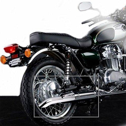 JFG RACING Universal Motorcycle Exhaust Silencer Pipe For Harley Cafe Racer,Bobber Custom,Triumph Custom etc,Slash Cut,Black by JFG RACING (Image #4)'