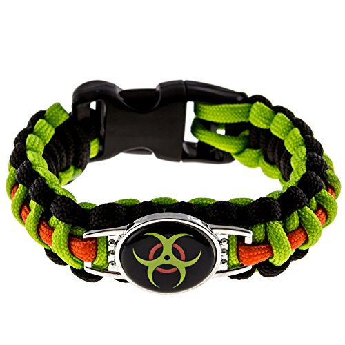Zombie-Paracord-Bracelet-Biohazard-Survival-Kit-Series-Emergency-Gear-for-Hiking-Camping-Climbing-and-other-Outdoor-Sports-or-Just-Fun