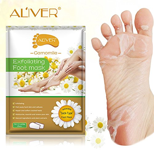 Clearance Sale!UMFun Remove Dead Skin Foot Mask Peeling Cuticles Heel Feet Care Anti Aging Foot Mask (C)]()