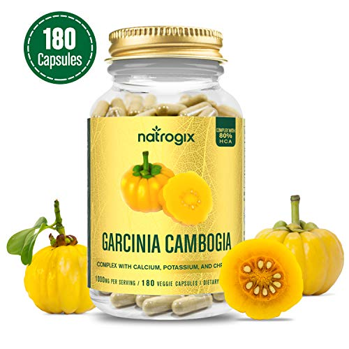 1000MG Per Serving Natrogix Garcinia Cambogia Complex Extract with 80% HCA - 3 Months Supply- Natural Appetite Suppressant - Rapid Fat Burning - Natura Weight Management