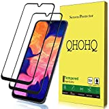 [2 Pack] QHOHQ Screen Protector for Samsung Galaxy A10E / A20E,[Full Coverage] Tempered Glass Case Friendly Protection Film for Samsung Galaxy A10E / A20E (Black)