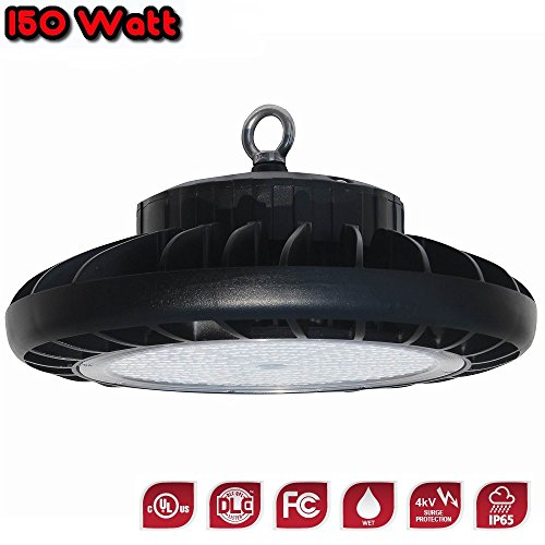 UFO 150W Round LED High Bay Light UL cUL DLC (4000 Kelvin) 5 Year Warranty - Great for Shops, Warehouses and Buildings With Tall Ceilings by Cost Less Lighting