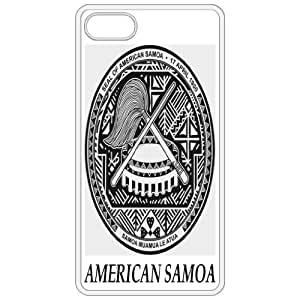 American Samoa - Coat Of Arms Flag Emblem White Apple Iphone 5 Cell Phone Case - Cover by mcsharks