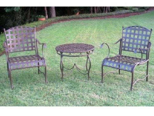 3 - Pc Nail head Bistro Set by International Caravan