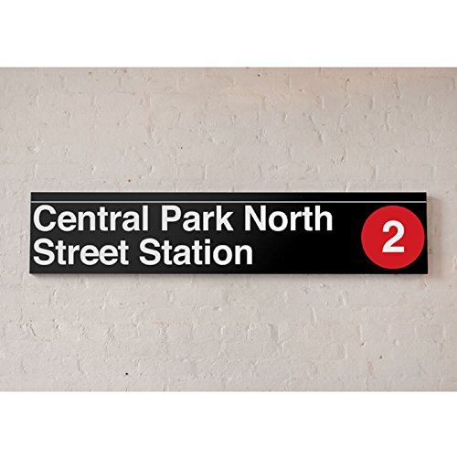 NYC MTA Vinyl Sign- Central Park North 110th (110 Street Sign)
