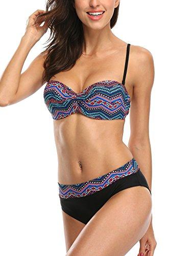BeautyIn Womens Bandeau Swimsuit Beachwear