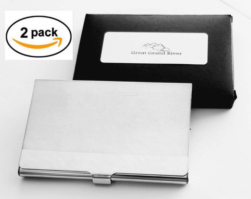 Professional Business Card Holder Business Card Case Stainless Steel Card Holder Keep Business Cards in Immaculate Condition NS Pack of 1 GGR 1