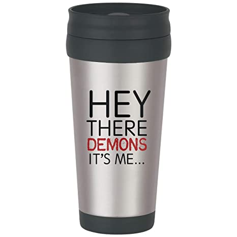 Amazon Com Buzzfeed Unsolved Hey There Demons Hot Cold Tumbler