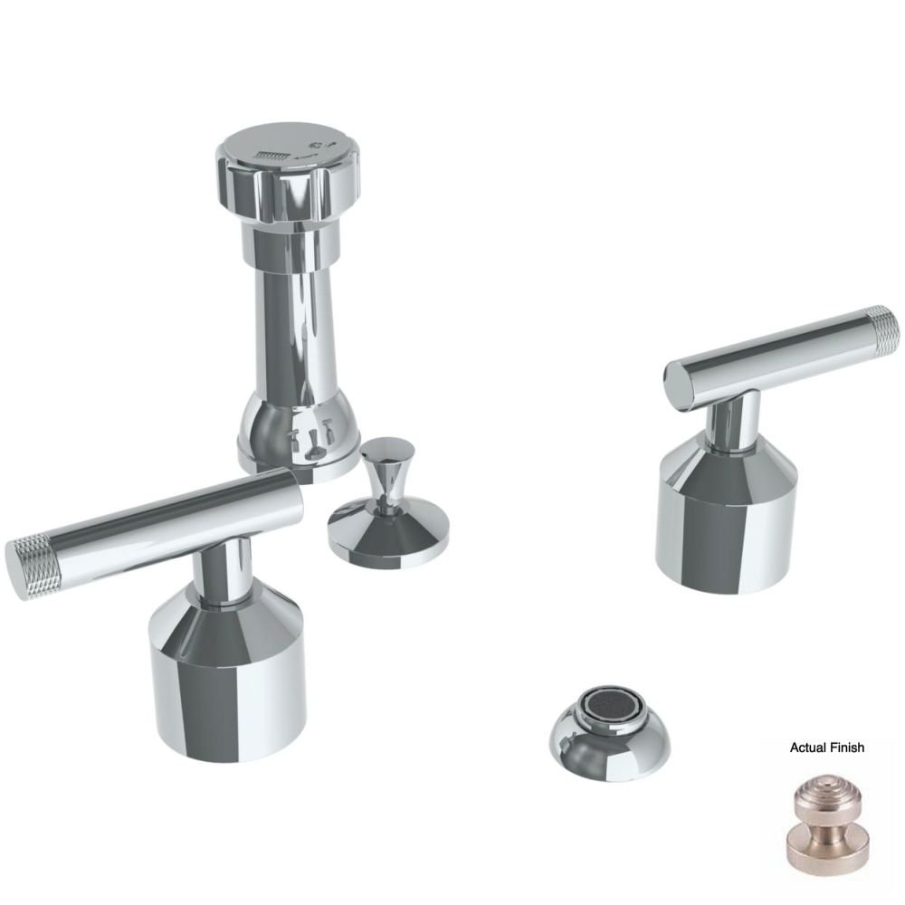 free shipping Watermark 25-4-IN14-SN Satin Nickel Urbane 4 Hole Bidet