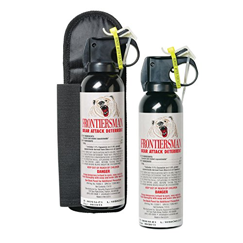 FRONTIERSMAN Bear Spray – Pack of 2 – 7.9 oz Canisters, Max Strength - Impressive 30-Foot (9m) Range – With Belt Holster Option
