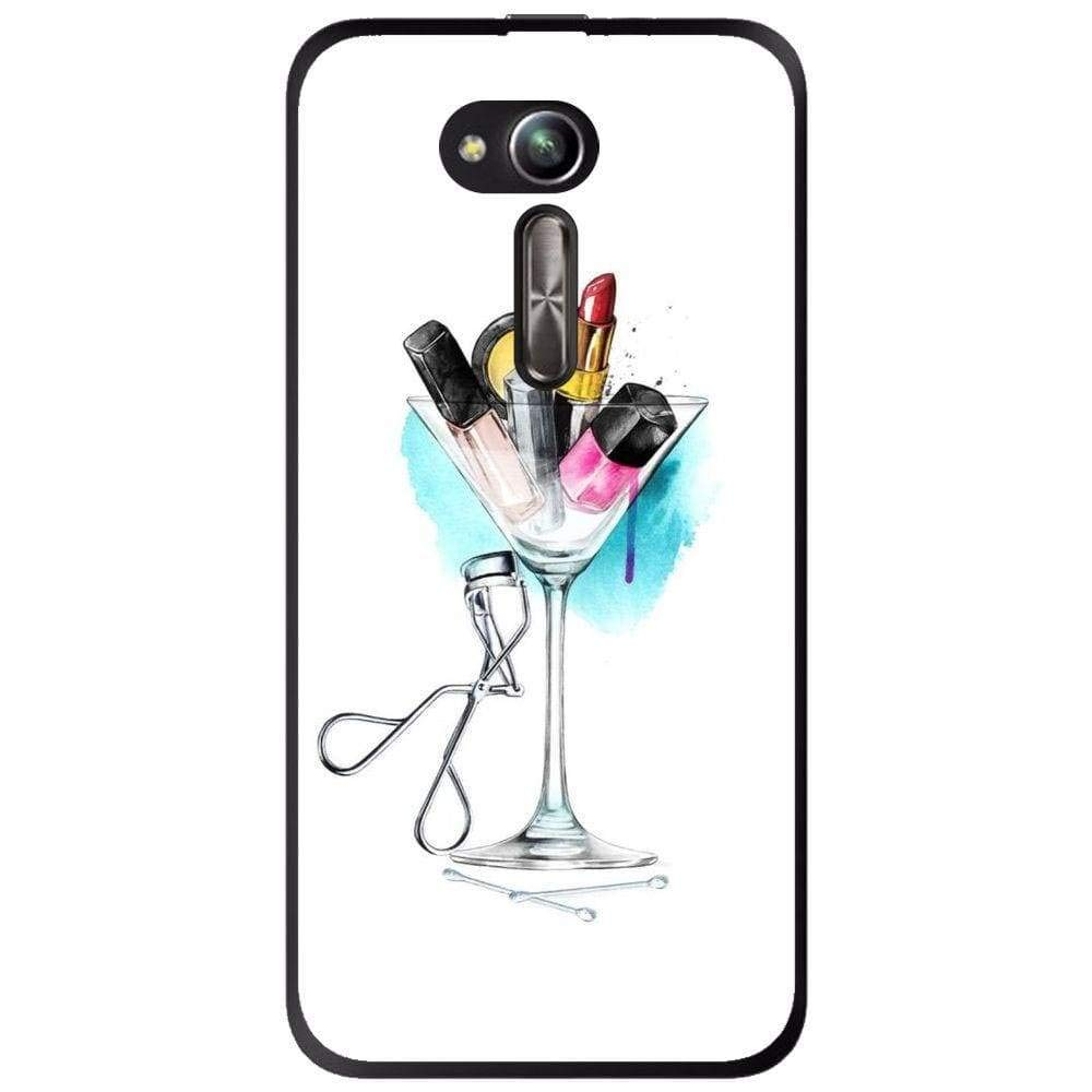 Amazon.com: Silicone Case Make Up Cocktail Asus Zenfone Go ...