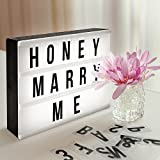 Light Sign Box, AGM Super Perfect DIY LED A4 Box with Decorative 90 Letters Numbers Symbols for Festival,Birthday,Anniversary,Wedding,Mottoes [A4 Size, White]