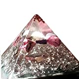 XL Astral Orgonite Pyramid, Jade, 925 Silver, Opal, ArbroeaCrystals Design, orgone generator