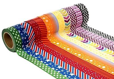 United Tapes Decorative Craft Washi Masking Tape (Set of 12 Rolls)
