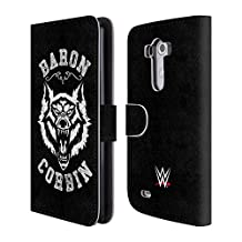 Official WWE Lone Wolf 2 Baron Corbin Leather Book Wallet Case Cover For LG Nexus 5