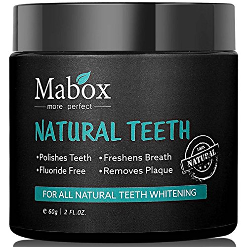 Activated Charcoal Natural Teeth Whitening Powder, 60g Natural Organic Activated Charcoal Bamboo Toothpaste for Stronger Healthy White Teeth