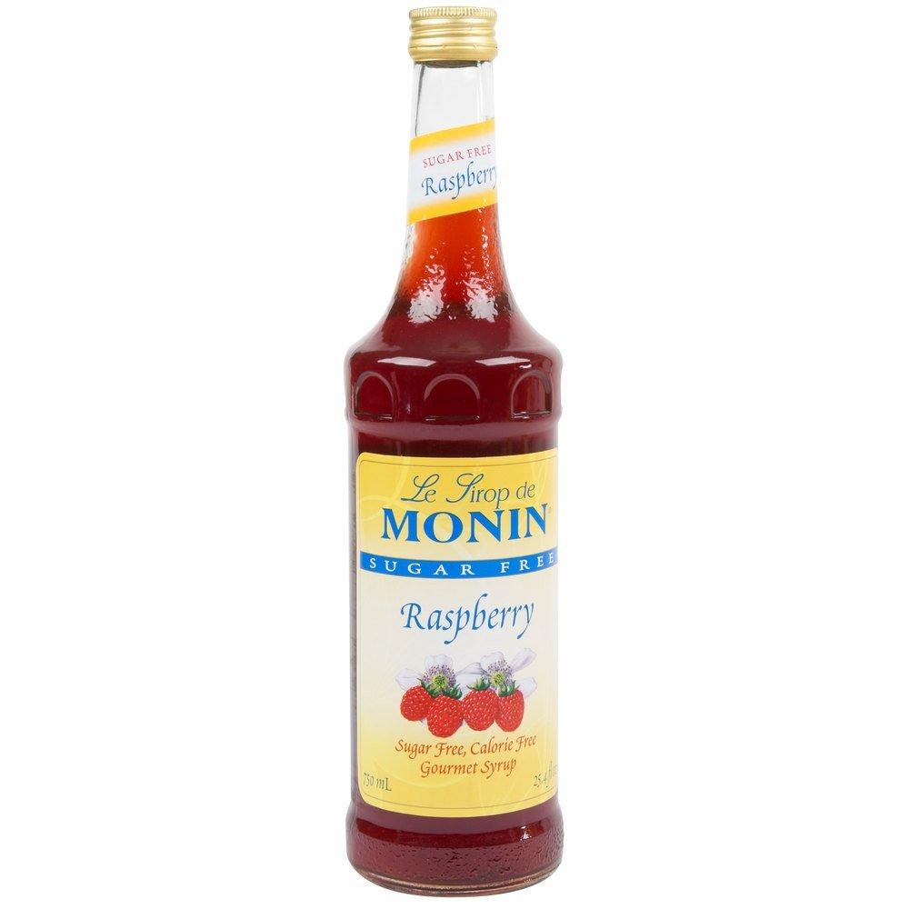 Monin Sugar Free Raspberry Syrup, 750 ml